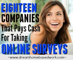 18 Survey Companies That Pays Cash For Taking Online Surveys