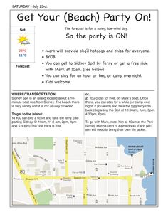 Beach Party Invite July 23, 2011 Sidney Spit @ TLC BBQ Party