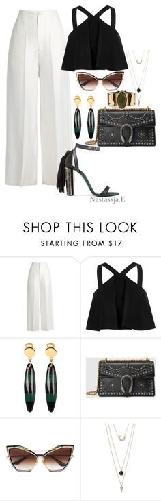 """Cayman Island"" by nastassja-e ❤ liked on Polyvore featuring Joseph, River Island, Marni, Gucci, Dita and SUGARFIX by BaubleBar"