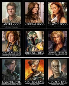 Luke Skywalker, Jaina Solo-Fel, Mara Jade Skywalker, Tenel Ka Djo, Boba Fett, Cade Skywalker, Darth Caedus (Jason Solo), Lumiya, Darth Bane by cptmeatman