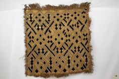 Kuba Cloth ( Shoowa ) Raffia Textile - Congo DRC 6 Mo, Congo, Embroidery Thread, Crochet Top, Bohemian Rug, Weaving, Textiles, Stitch, Ebay
