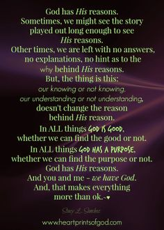Heartprints of God: The Thing is This . . . ~<3