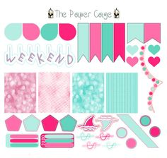 A personal favorite from my Etsy shop https://www.etsy.com/listing/231193543/pink-and-teal-decorating-kit-calendar