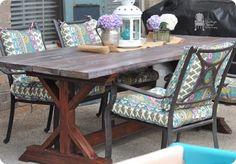 Build Your Own Trestle Farmhouse Table