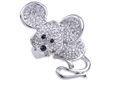 Cheap rings costume jewelry, Buy Quality ring crystal directly from China adjustable fashion rings Suppliers: Rings Crystal Clear Rhinestone Mouse Rat Fashion Costume Adjustable Ring [Costume Jewelry] Cute Rats, Buy Rings, Costume Jewelry, Swarovski Crystals, Heart Ring, Brooch, Jewels, Band, Crystal Ring