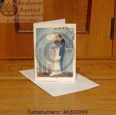 Minna Immonen wedding card / Minna Immosen hääkortti Wedding Cards, Bookends, Decor, Wedding Ecards, Decorating, Inredning, Interior Decorating, Wedding Invitation Cards, Deck
