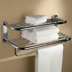 The Luxury Resort Towel Warming Shelf - Hammacher Schlemmer