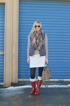 Stripes x2 + Plaid | Style in a Small Town