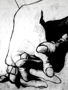 hands love unknown artist #black and white
