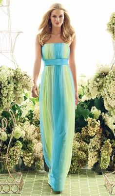 Tropical Beach Bridesmaids Dresses | ombre tropical blue dress this dress just screams summer the