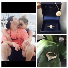 Courtney and Caleb got in engaged on the beach Costa Rica! <3 We just LOVE how their rose gold Kirk Kara engagement ring came out! Check out all of that engraving around the marquise center!