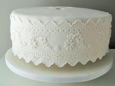 Cake for Baptism by Sweet Temptations - Custom Cakes by Albena www.albenacakes.com