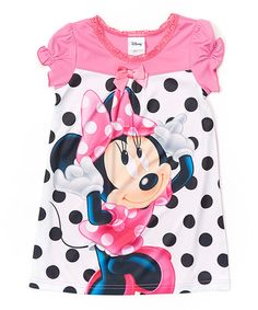 Another great find on #zulily! Pink Minnie Mouse Polka Dot Nightgown - Toddler by Minnie Mouse #zulilyfinds