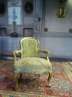 A perfectly exquisite replica of a chair from a museum in Stockholm from a very Talented Elisabeth Hessborn