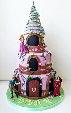 Rapunzel Tangled tower birthday cake Tangled Rapunzel Zeenat