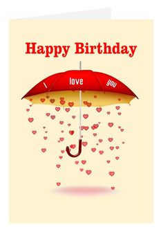 Rain Of Love Birthday Card Birthdaygifts