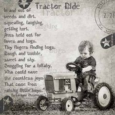 Little Boys and their tractors.