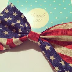 The vintage American flag bow has for sure been this years most popular bow! Have you ordered yours yet?