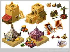 Building Concept, Building Art, Building Images, Environment Concept Art, Environment Design, Fantasy House, Fantasy Art, Desert Map, Casual Art