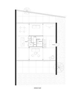 house with a saw-tooth roof by förstberg arkitektur och formgivning (FAF) [floor plan : level 0]