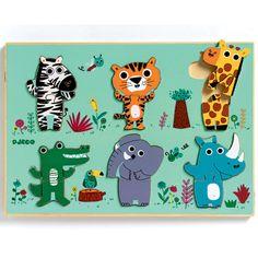puzzel jungledieren   djeco