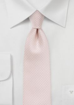 New Pin Dot Tie in Blush Pink. Also available as matching pocket square and bow tie - $14.90
