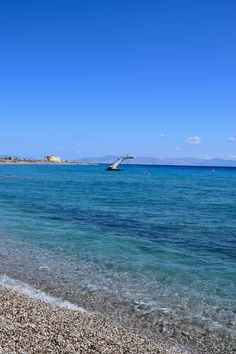 2015 June:  Rhodes, Greece - Elli Beach in Ρόδος