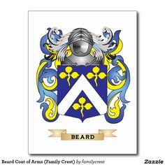 Beard Coat of Arms (Family Crest) Postcard