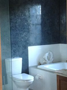 Italian polished plaster finish - bathroom walls # interior design# interior decorating # specialist finish