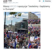 Potężny marsz KOD w Warszawie. Według miasta Warszawy mogło w nim brać udział około 240 tysięcy ludzi. Po prostu informacja dnia,miesiąca a nawet roku