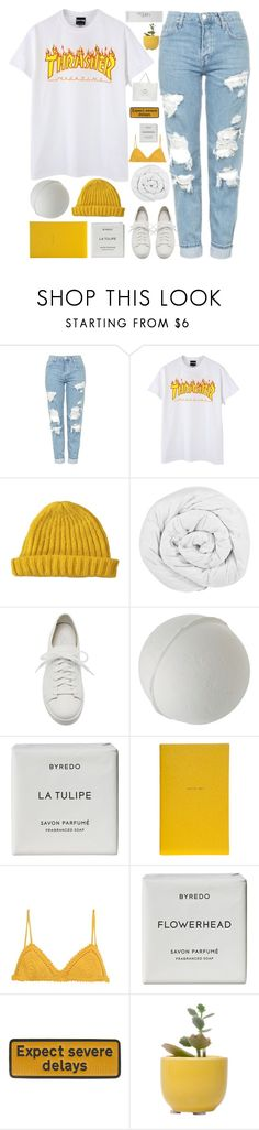 """let's get lost"" by moonlightbaeex ❤ liked on Polyvore featuring Topshop, Lowie, The Fine Bedding Company, Santoni, Byredo, Smythson, SHE MADE ME, Anya Hindmarch, Dot & Bo and NARS Cosmetics"