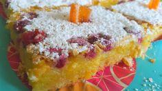 Orange Raspberry squares
