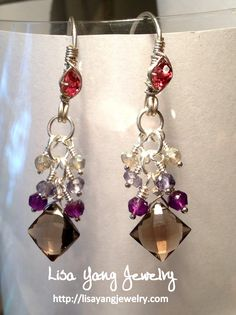 Lisa Yang's Jewelry Blog: Gemstone Cluster Earrings