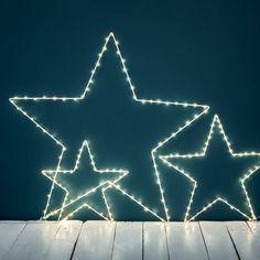 Étoile lumineuse blanche à leds