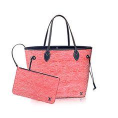 Descubra el Louis Vuitton Neverfull MM La lujosa piel Epi convierte al Neverfull MM en el modelo ideal para cada ocasión. Sencillamente práctico, este bolso es un tote ideal, y cuando se deslizan los lazos, se convierte en un city bag chic y compacto.