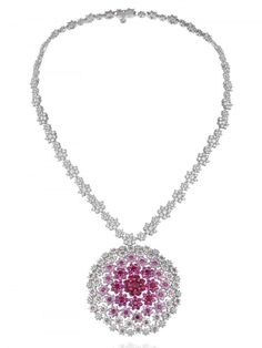 floral-inspired necklace; Chopard