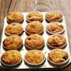 Blackberry and Bramley apple muffins from Blackberry Muffins Easy, Blackberry And Apple Crumble, Apple Crumble Muffins, Blackberry Recipes, Blueberry Recipes Uk, Uk Recipes, Apple Recipes, Sweet Recipes, Honey