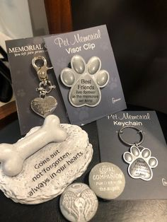 Pet Memorial Keychains, Visor Clip and Stones by Roman Pet Memorials, Keychains, Dog Lovers, Roman, Stones, Memories, Personalized Items, Pets, Key Hangers
