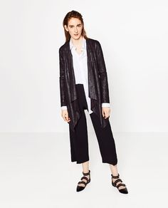 ZARA - COLLECTION AW16 - SUEDE-EFFECT JACKET