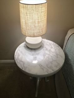 """""""Marble Top"""" side table."""