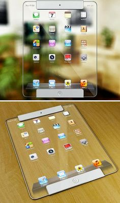 Here's a design concept for a transparent iPad by artist Ricardo Afonso that might seem far-fetched, but transparent screens are certainly not impossible...
