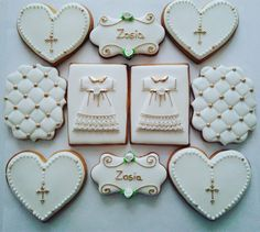 First communion cookies set; cookie artist Żaneta Tomczak