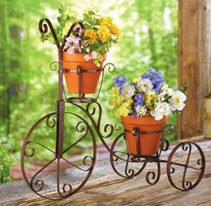 Bicycle Garden Cart Flower Pot Holder
