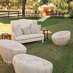 I love couches outdoors