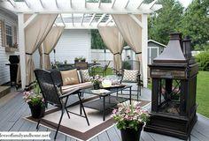 Patio - privacy Deck Pergola Pergola Curtains Patio Privacy Outdoor Curtains Backyard & 81 Best Patio Privacy images in 2019   Gardens Home garden ...