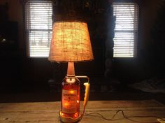 Seagram's 7 Half Gallon Bottle Lamp with Carrier by Grimmywood on Etsy
