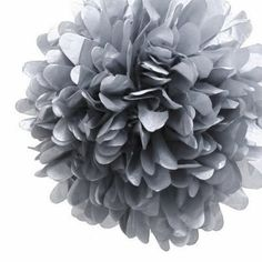 Add a stylish touch to your next event with this gorgeous Silver Tissue Pom Pom!Available in a range of gorgeous colours these pom poms can be strung from the ceiling at varying lengths, stuck to walls or use them to make a garland - the possibilities are endless!  Best of all, once the party is complete simply transfer them to another room in the house - they make a gorgeous addition to kids rooms, play rooms and living rooms!...