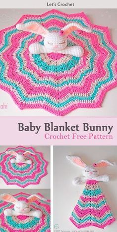 This Amigurumi Baby Blanket Bunny Crochet Free Pattern is a very cute decoration. Make one now with the free pattern provided by the link below. Crochet Lovey Free Pattern, Bunny Crochet, Crochet Gratis, Crochet Amigurumi, Crochet Blanket Patterns, Crochet For Kids, Baby Patterns, Crochet Toys, Free Crochet