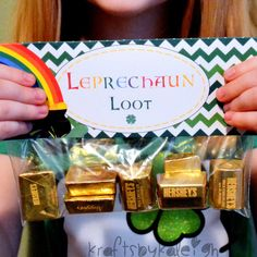 READY MADE - Leprechaun Loot - St. Patrick's Day Goodie Bag Favor on Etsy, $5.00
