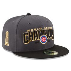 45a32c0ab Men's Chicago Cubs New Era Gray/Black 2016 World Series Champions Two-Tone  59FIFTY